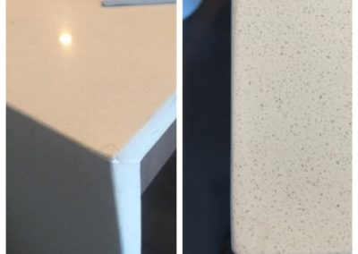 Chip repair before and after: Quartzite ~ Boston