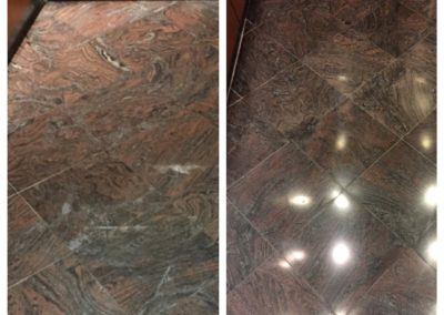 marble elevator floor tire restoration