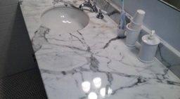 newton marble vanity