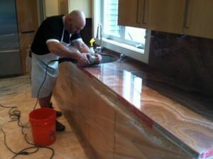 Kitchen countertop restoration, Paul