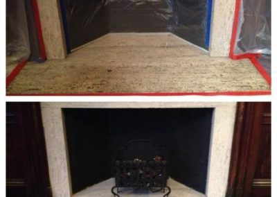 fireplace and  facing cleaning service ma