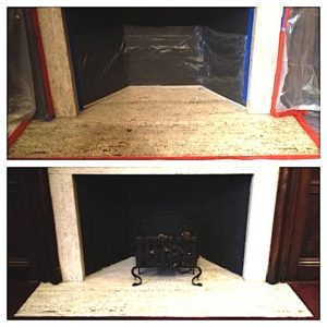 fireplace facing cleaning service ma