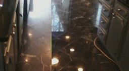Black Marble Kitchen Floor, Westwood, MA