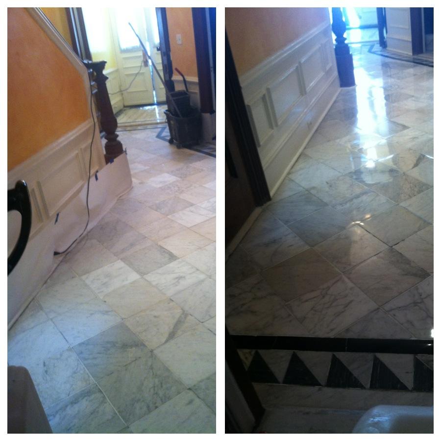 Marble Floor Restoration : Antique marble floor restoration back bay boston