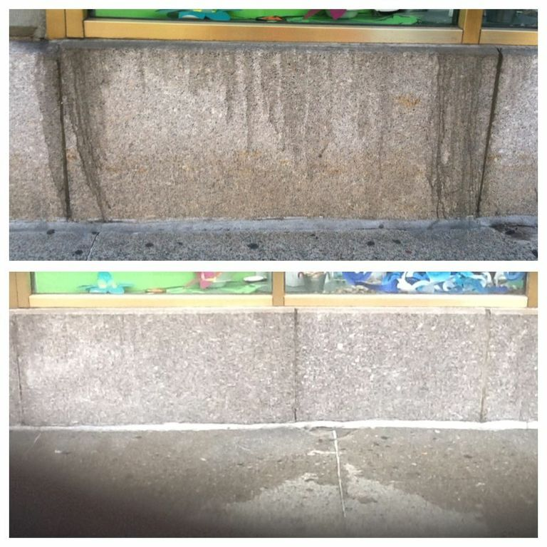 Exterior: Exterior Granite Cleaning Before & After