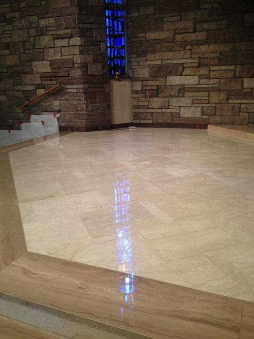 marble chapel floor restoration