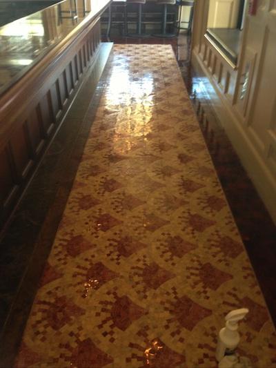 Cape Cod Restaurant's Mosaic Floor Shines Like New