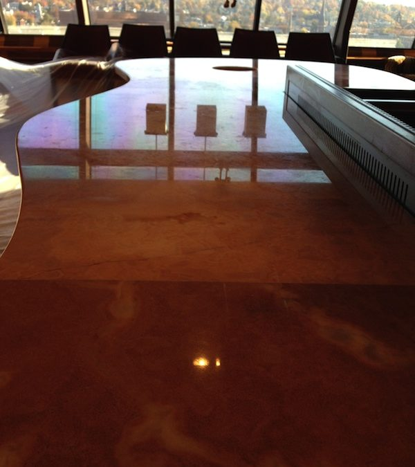 Interior Designer's Honey Onyx Island Installation Glows!