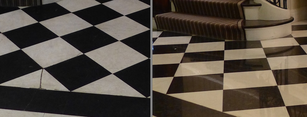 Before And After Marble Tile Boston Stone Boston Stone