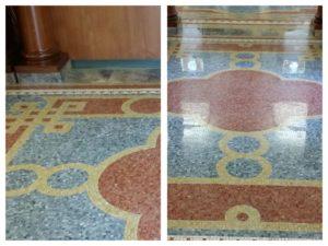 Antique Mosaic Floor Restoration in Franconia, NH