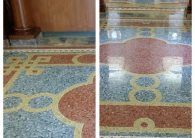 Antique Mosaic Floor Restoration in Franconia, NH