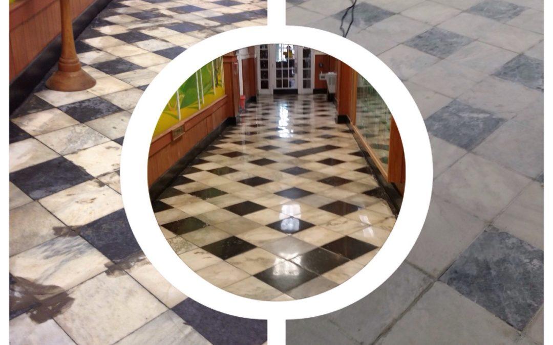 Hidden Marble Floor Restored