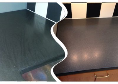 black absolute granite counter top before after