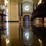 newport RI foyer marble