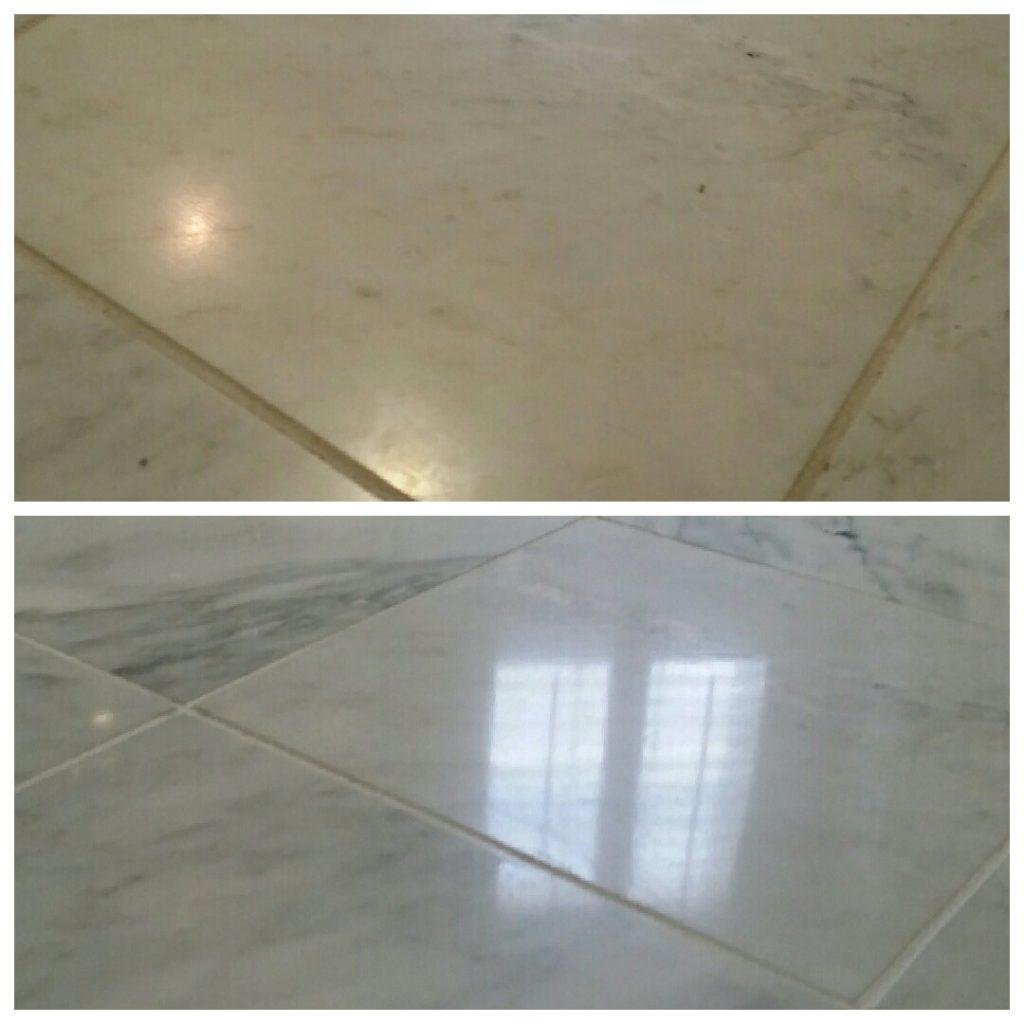 How long does stone floor polishing take