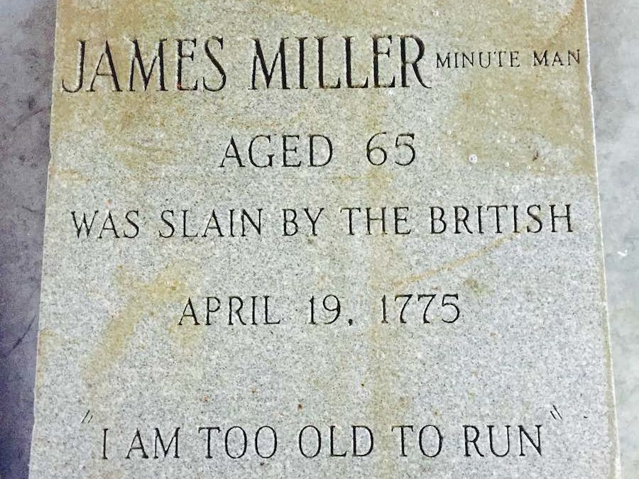 """I am too old to run"" Somerville Minute Man Marker to be Restored"