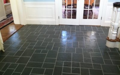 Indoor and all season slate floor renovations