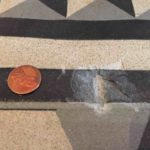 16th Century Painted Concrete Floor Restored