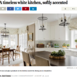 Marble Goes High Tech for Metro West Kitchen Renovation