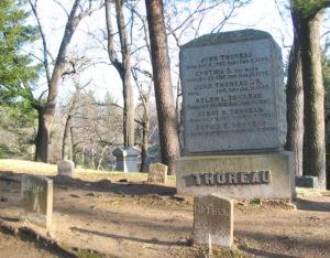 Granite cemetery marker.