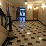 Back Bay Negro Marquina Marble Foyer Restoration