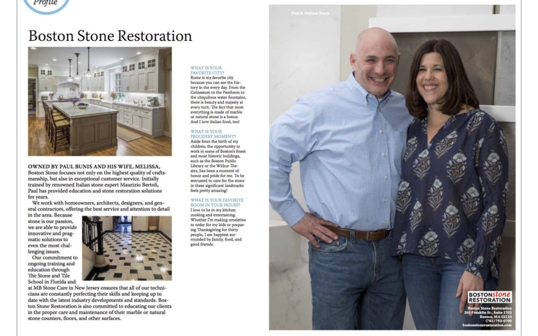 See our profile in New England Home Magazine!