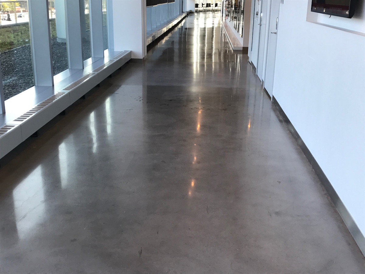 concrete floor polish AllstonMA after