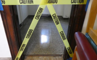 Terrazzo floor salvage, revealed