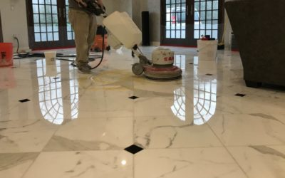 Polished Calacatta Gold Marble Floor in Warwick, RI