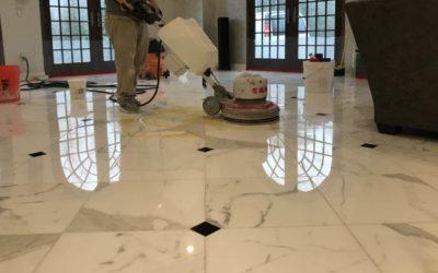Polished Calacatta Gold Marble Floor in Warwick, RI