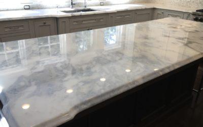 Waban, MA Marble Kitchen Restoration