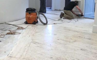Historical Limestone Floor Restoration | Newburyport, MA