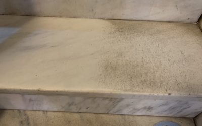 White Carrara Marble Stair Restoration | Brookline, MA