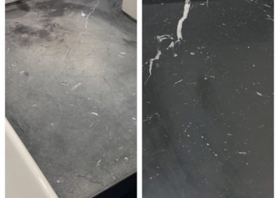 black countertop polish massachusetts before after