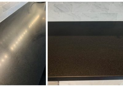 black absolute granite polish before and after