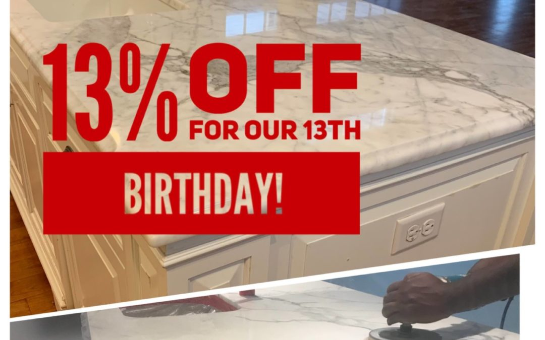 13%  Off for our 13th Birthday!