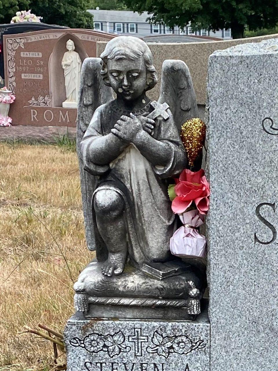 headstone restoration after