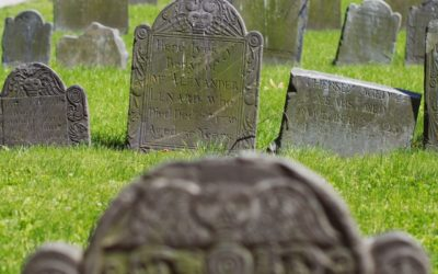 What are most common materials used in gravestones?