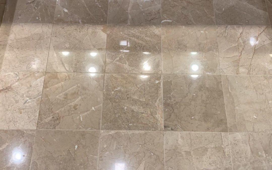 Limestone Bath Mini Makeover: Fractures, Holes & Polishing