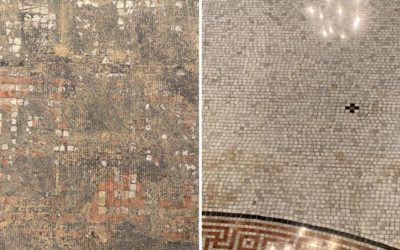 Antique Mosaic Tile Floor Revealed: Forest Hills Cemetery